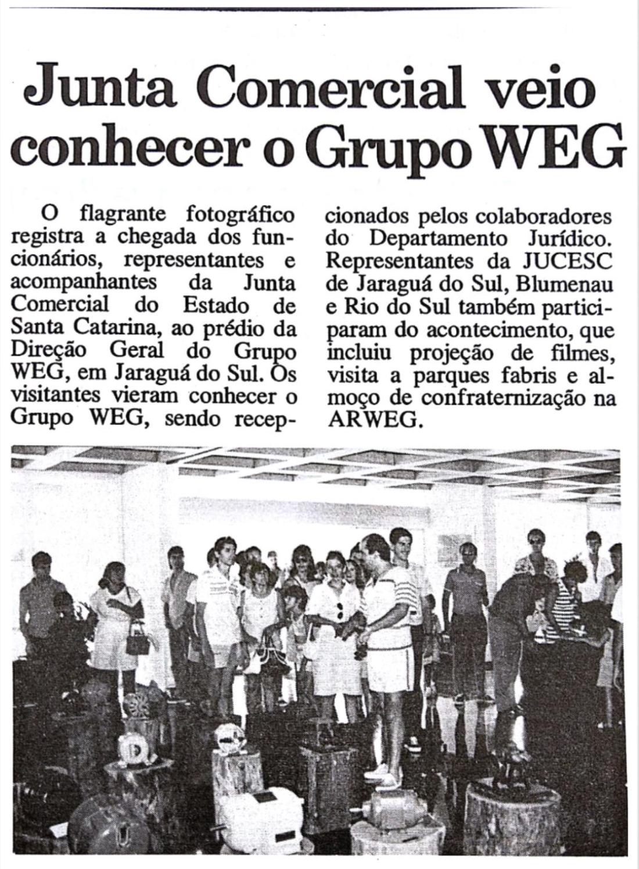 Extraído do Notícias WEG nº 115 de Março/1988 Acervo Museu WEG de Ciência e Tecnologia