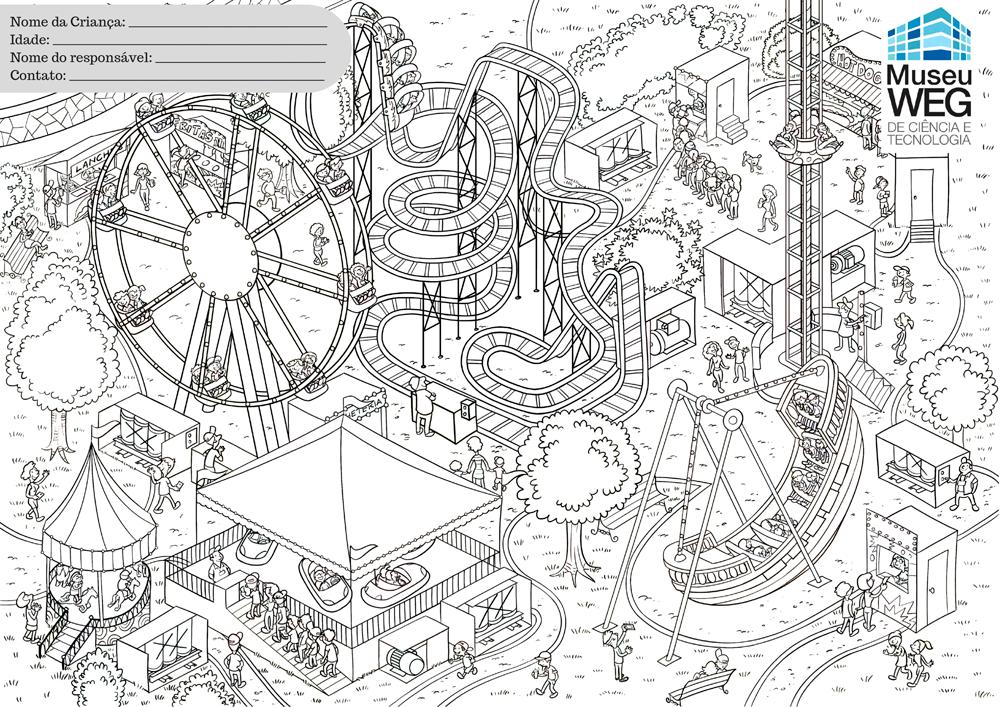 Modelo do desenho para colorir