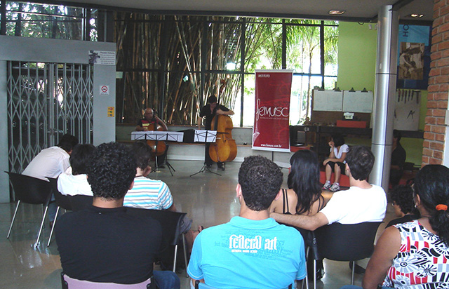 Santa Catarina Music Festival performance at the Museum.