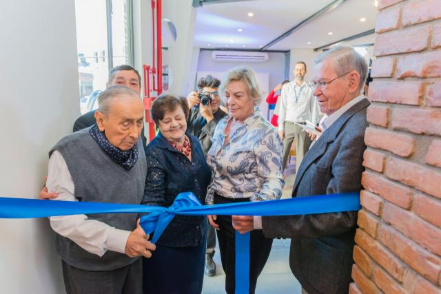The founders Mr. Werner Ricardo Voigt, Mr. Eggon João da Silva, his wife Ms. Laura Augusta da Silva and Ms. Lilian Werninghaus cut the ribbon.